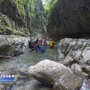 مسیر دسترسی : مازندران، نوشهر، روستای کوشک سرا، منطقه تنگه، رودخانه کوشک سرا